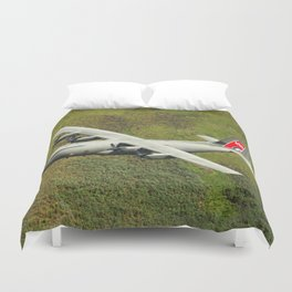 Low Flying Hercules With Special RAF Centenary Tail Art Duvet Cover