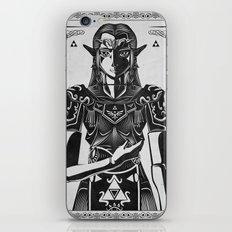 Legend of Zelda Princess Zelda Geek Art Portrait iPhone & iPod Skin