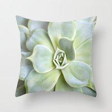 Mint Succulent Throw Pillow