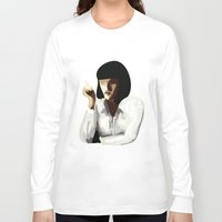 mia wallace Long Sleeve T-shirts featuring Mia Wallace by Clotilde Petit