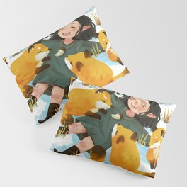 Snuggles with foxes Pillow Sham