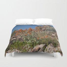 Desert Wildflowers & Cacti in Spring Duvet Cover