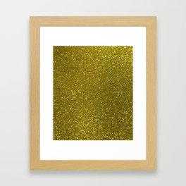Classic Bright Sparkly Gold Glitter Framed Art Print
