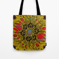 in the flesh Tote Bags featuring Flesh Warp by Craig Earp