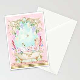 Marie Antoinette Bath  Stationery Cards