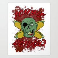 zombie hotdogs Art Print