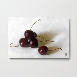 Bing Cherries Metal Print