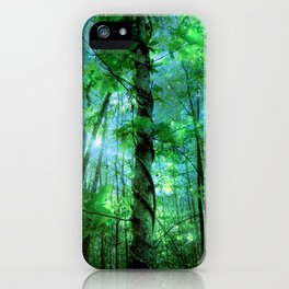 Forest Of The Fairies Green Blue iPhone Case