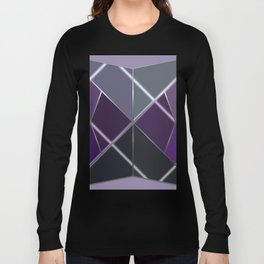 Mosaic tiled glass with a laser show Long Sleeve T-shirt
