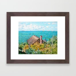 Claude Monet The Cabin At Saint-Adresse Framed Art Print