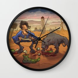 Now, now Percival! What have I told you about manners at the table? Wall Clock