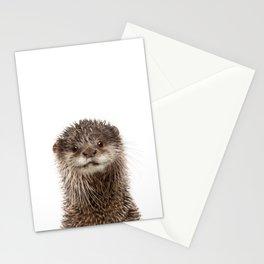 Baby Otter Portrait Stationery Cards