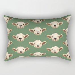 Sweet Lamb in the Barnyard Rectangular Pillow