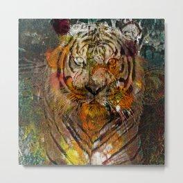 Tiger Glow Metal Print