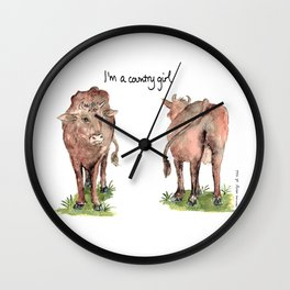 I'm a country girl Wall Clock