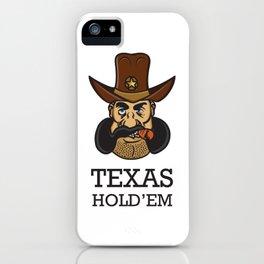 Texas hold 'em iPhone Case