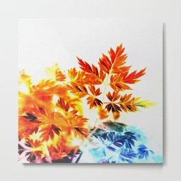 Enchanted Fern Leaves Metal Print