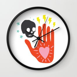 In Their Hands Wall Clock
