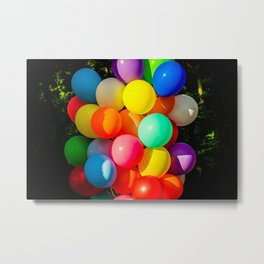 Colorful Toy Balloons Metal Print