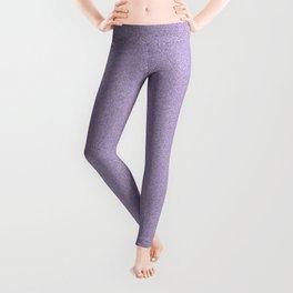 Dense Melange - White and Dark Lavender Violet Leggings