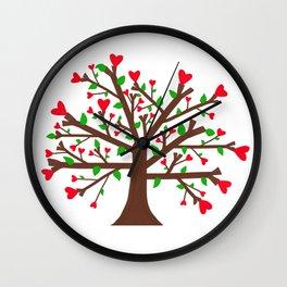 Tree of Love, Tree of Life Wall Clock