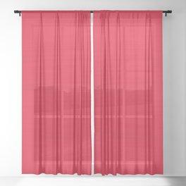 Juicy Red Apple Brush Texture Sheer Curtain