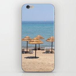 Beach Umbrellas, Zante iPhone Skin