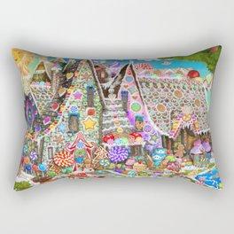 The Gingerbread Mansion Rectangular Pillow