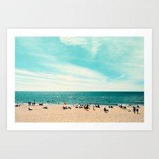 Portrait of a Beach Art Print