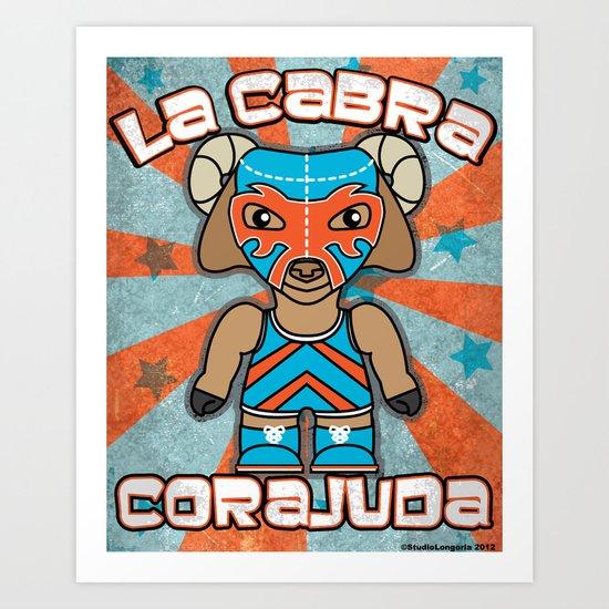 Luchamals- La Cabra Corajuda Art Print