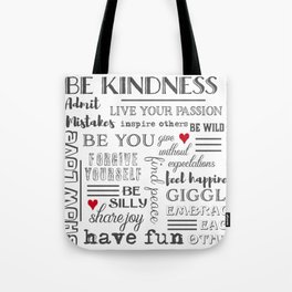 Inspirational Typography Block Tote Bag