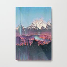 Glitched Landscapes Collection #2 Metal Print