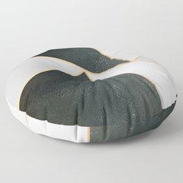 Black White Gold Floor Pillow