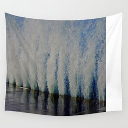 Lake Michigan Natural Fountains #4 (Chicago Waves Collection) Wall Tapestry