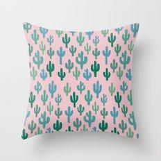 Candy Cactus Throw Pillow