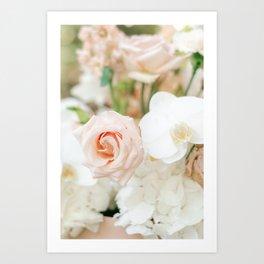 Blush Roses   Pastel Color Bouquet   Fine Art Photographer Print Art Print