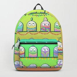 Cute little rainbow creatures pattern Backpack