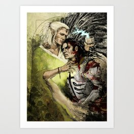 Dragon Age - Templar and Apostate Mage - Cure Art Print