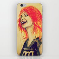 hayley williams iPhone & iPod Skins featuring Hayley Williams by Mary Agoncillo