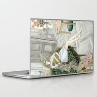 puppies Laptop & iPad Skins featuring Two Puppies by Yuliya