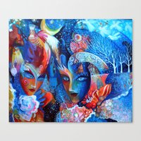 venice Canvas Prints featuring Venice by oxana zaika