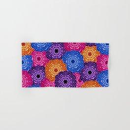 Dahlia Rainbow Multicolored Floral Abstract Pattern Hand & Bath Towel