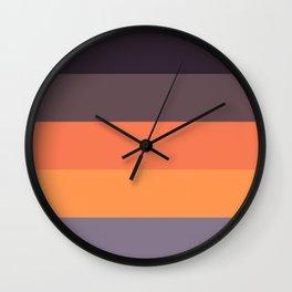 Autumn stripes Wall Clock