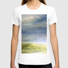 Sea Shore Watercolor Ocean Landscape Nature Art T-shirt