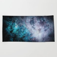 My Dreams Are Coming True : Turquoise & Lavender Beach Towel