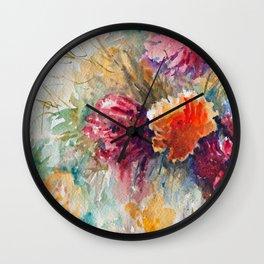 Watercolor Floral Bouquet  Wall Clock