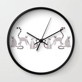 Lemurs Cute Funny Animals Wall Clock