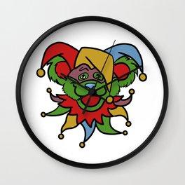 Bear Jester Wall Clock
