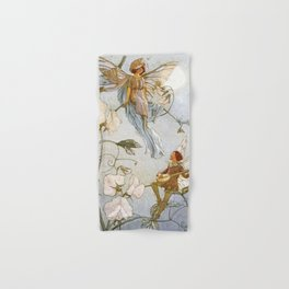 """Fairies Mid Sweet Peas"" by Margaret Tarrant Hand & Bath Towel"