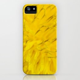 Dandelion flower in extreme close up. iPhone Case